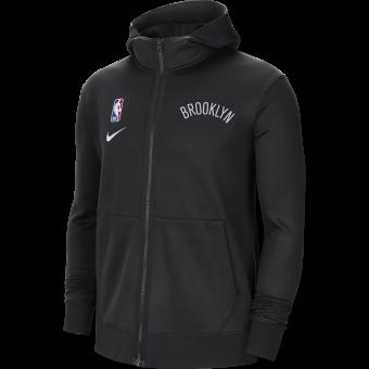 NIKE NBA BROOKLYN NETS SHOWTIME THERMA FLEX HOODIE