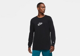 NIKE GIANNIS ANTETOKOUNMPO FREAK LONG-SLEEVE TEE BLACK