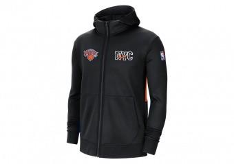 NIKE NBA NEW YORK KNICKS SHOWTIME CITY EDITION THERMA FLEX HOODIE BLACK