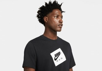 NIKE AIR JORDAN JUMPMAN BOX CREW TEE BLACK