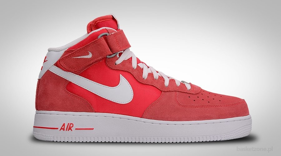 NIKE AIR FORCE 1 MID '07 FUSION RED