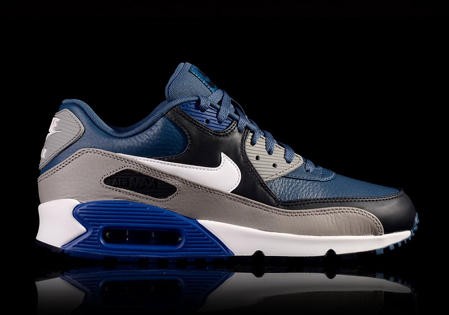 brand new 53326 5f396 nike air max 90 leather,nike air max 90 leather premium blue graphite